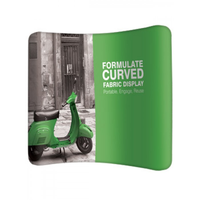 Fabric Exhibition Stand Years : Curved fabric display english