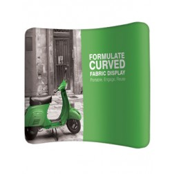 Curved Fabric Display