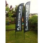2.8m Feather Flag Rocker Line