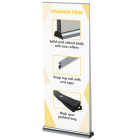 Twin roller banner