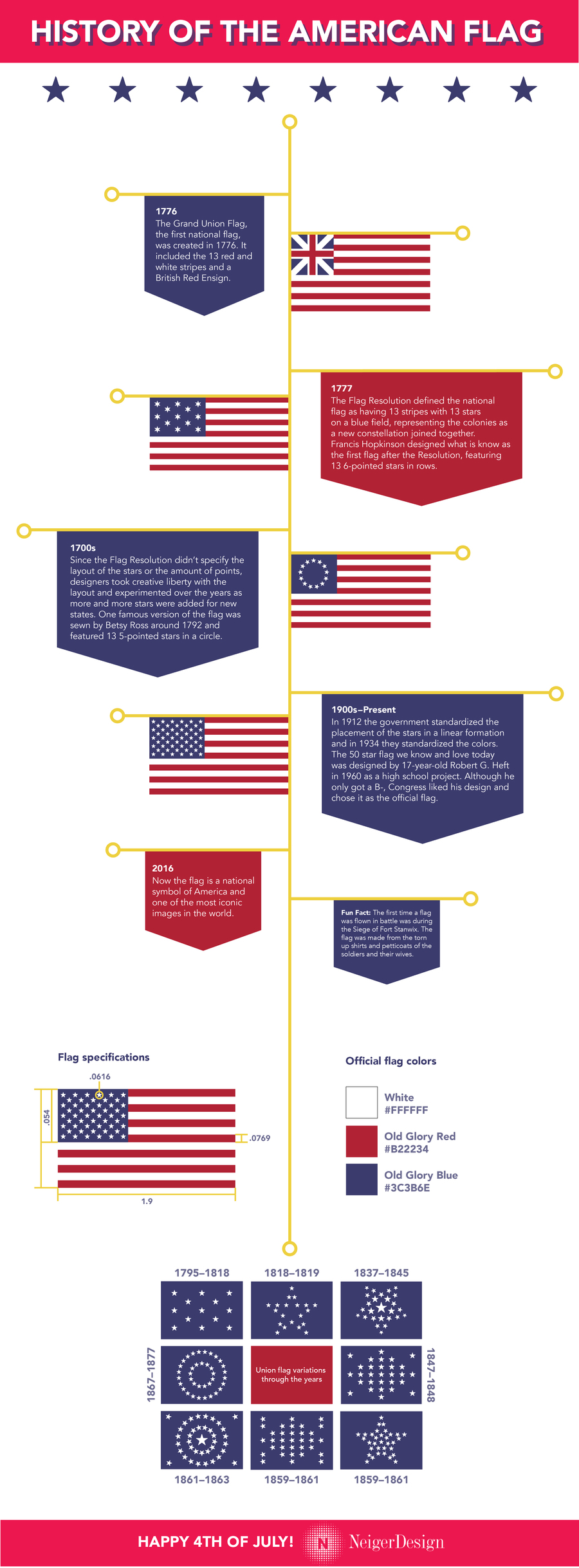 American flag infographic