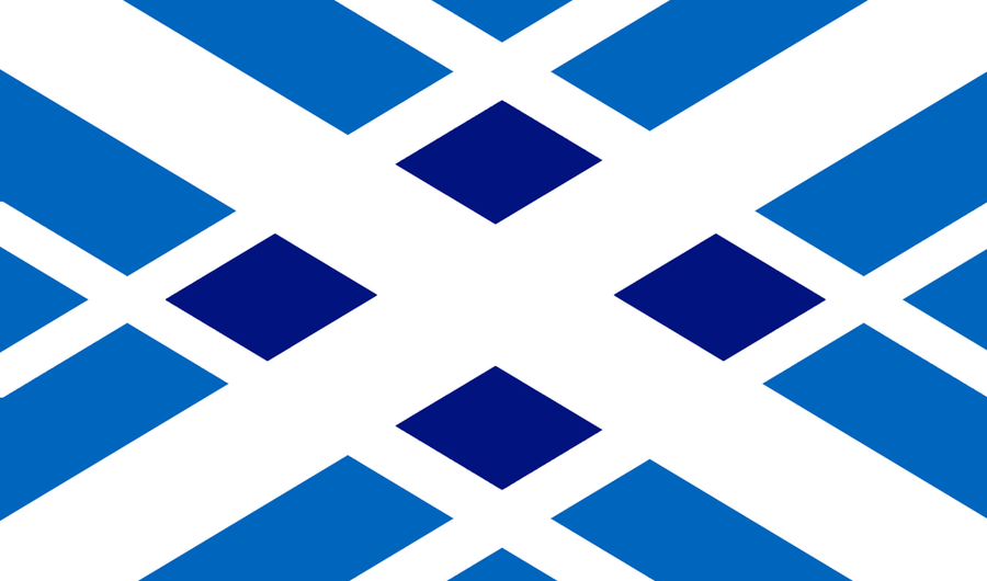 Tartan Scotland Flag Redesign