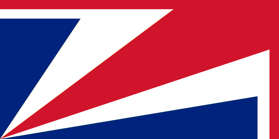 UK Flag in the style of the Seychelles
