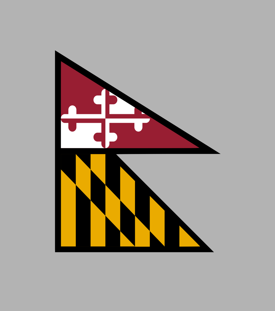 Maryland Flag in the style of Nepal