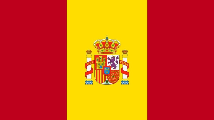 Spain Flag in the style of Peru