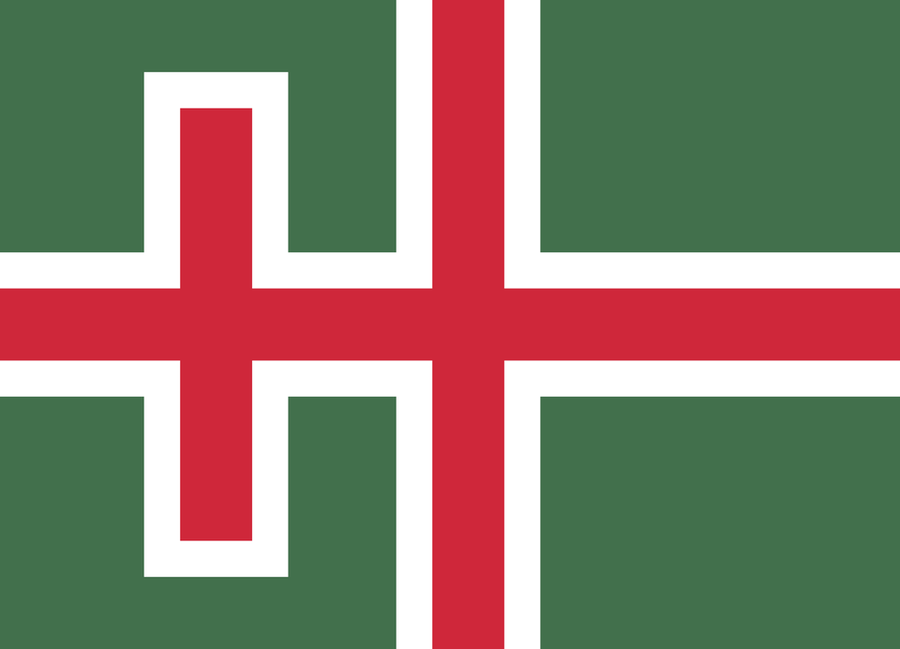 Hungary Flag in the style of Iceland