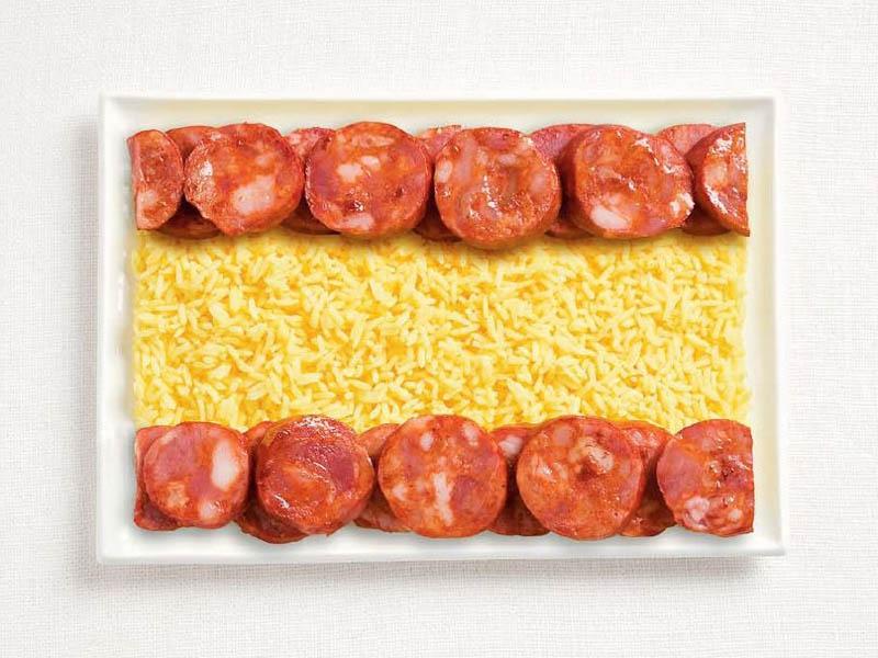 Spain Food Flag