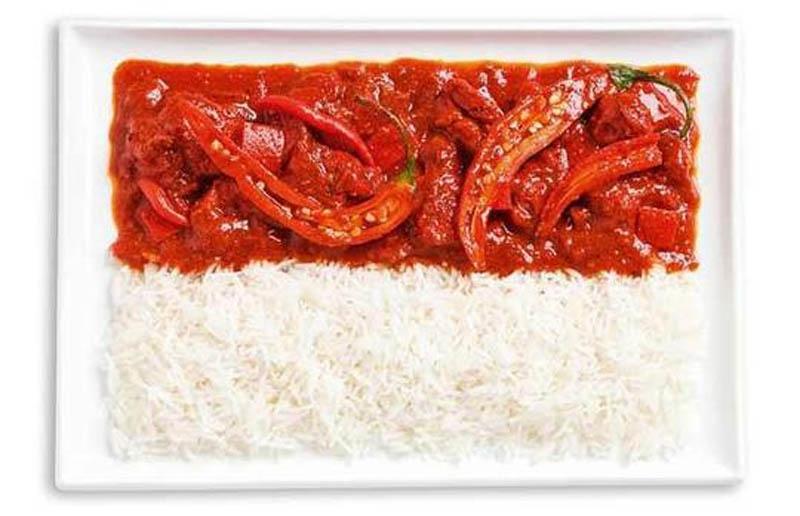 Indonesia Food Flag
