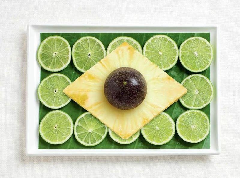 Brazil Food Flag