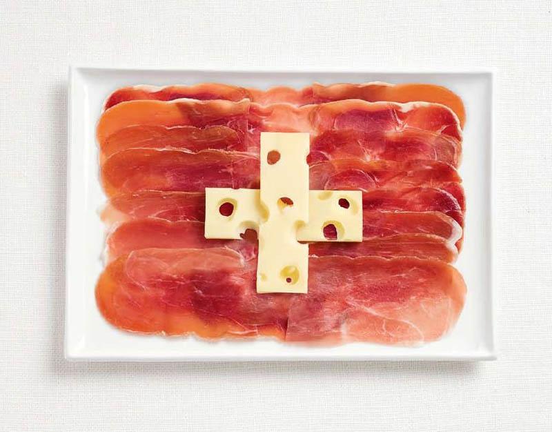 Switzerland Food Flag