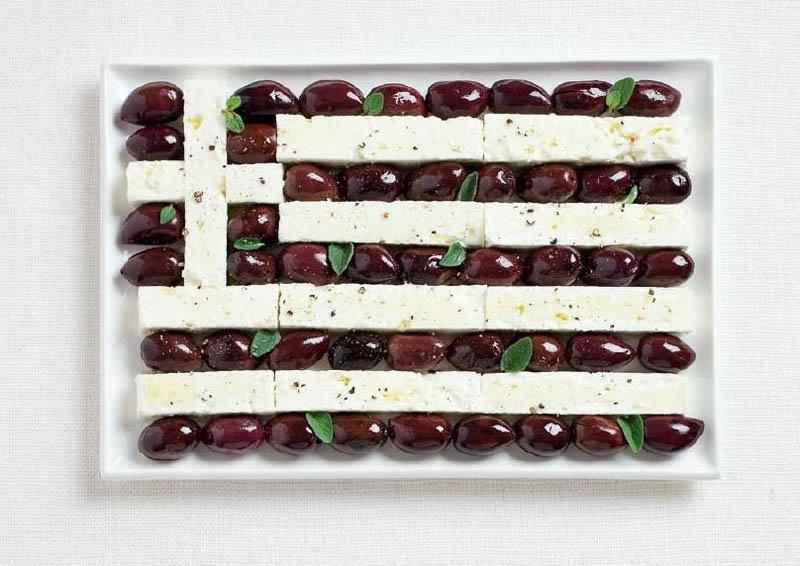 Greece Food Flag