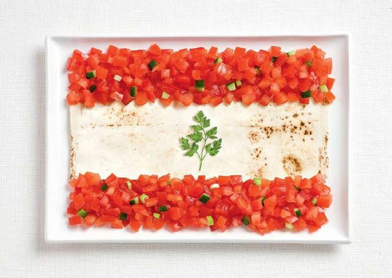 Lebanon Food Flag