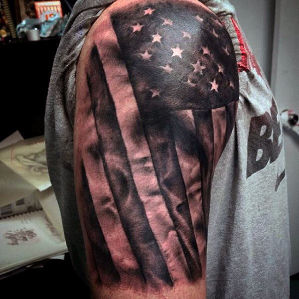 USA Flag Tattoo - pic 1