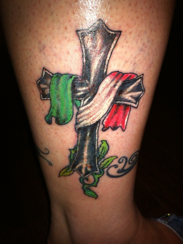 Italy Flag Tattoo - pic 2