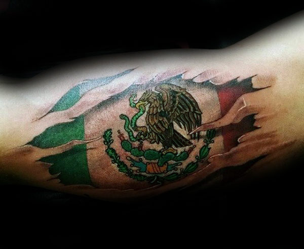 Mexico Flag Tattoo - pic 1