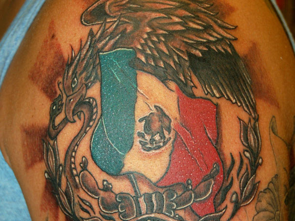 Mexico Flag Tattoo - pic 2