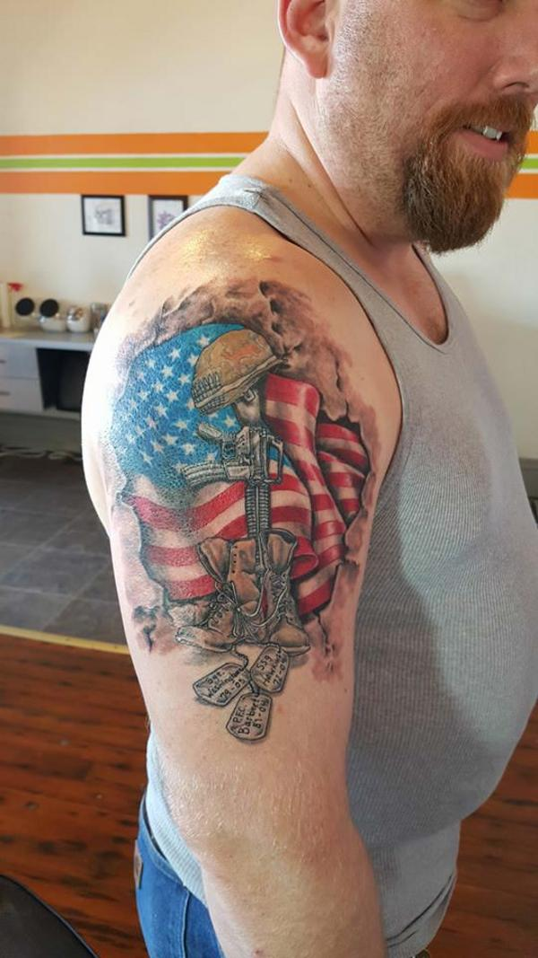 USA Flag Tattoo - pic 4
