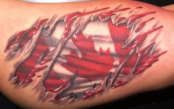 Canada Flag Tattoo - pic 1
