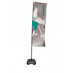 Feather Flag Rectangular (2.5m) | Premium Flag Range