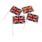Hand Waving Flags