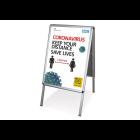 Coronavirus Pavment Sign