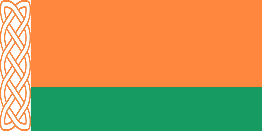 Ireland Flag in the style of Belarus