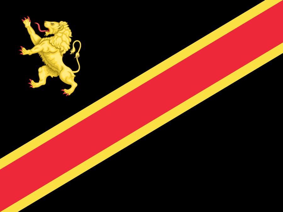 Belgium Flag in the style of the Democratic Republic of Congo