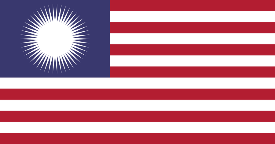 USA Flag in the style of Malaysia