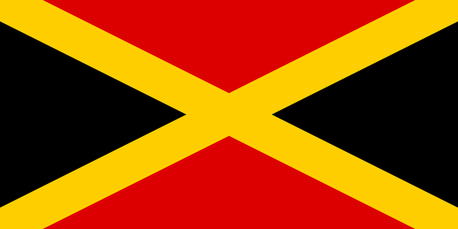 Germany Flag in the style of Jamaica