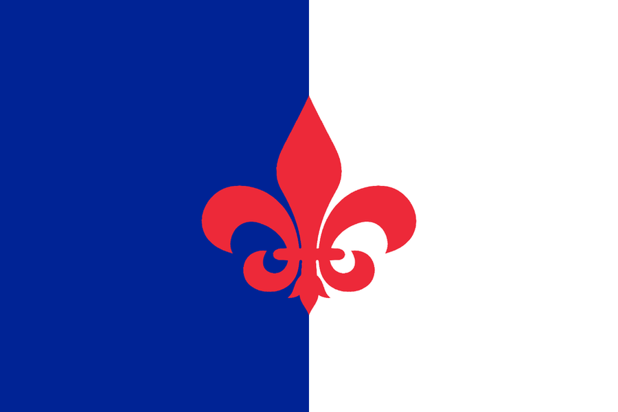 Flag of France in the style of Algeria